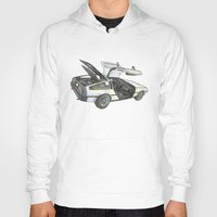 delorean Hoodies featuring DMC - Delorean by dareba