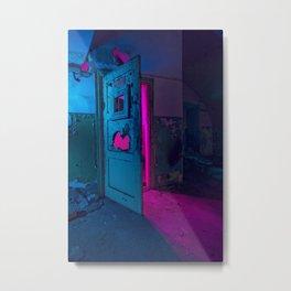 COLORFUL BUNKER DOORS Metal Print
