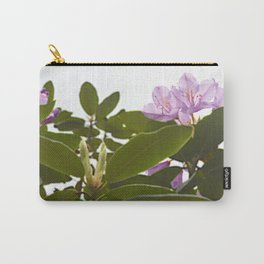 Pink Azalea Flowers with Spring Green Leaves Carry-All Pouch