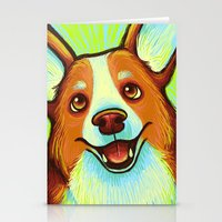 corgi Stationery Cards featuring Corgi  by Nicole