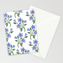 Blue Florals Stationery Cards