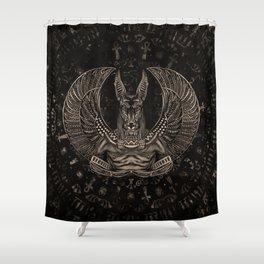 Anubis - Egyptian God Sepia Shower Curtain
