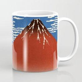 "Hokusai (1760–1849) ""Fuji, Mountains in clear Weather (South Wind, Clear Sky)(Red Fuji)"" Coffee Mug"
