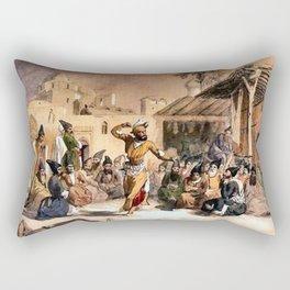 Jules Laurens - Dragomans a Teheran Rectangular Pillow