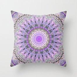Lovely Lavender Mandala Design Throw Pillow
