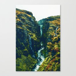 Glymur Falls in Iceland. Canvas Print