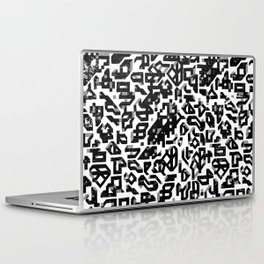 To Build A Castle_ Black and white Laptop & iPad Skin