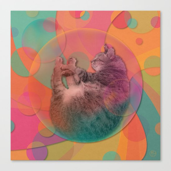 Kitty Cat Sweet Dream Canvas Print