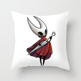 Hornet playing a needle Throw Pillow