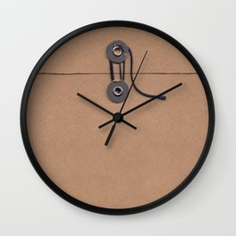 Camo Series - kraft envelope Wall Clock