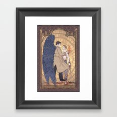 Angelic Intervention (Dean Winchester is Saved) Framed Art Print