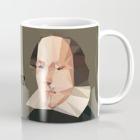 shakespeare Mugs featuring William Shakespeare by Vi Sion