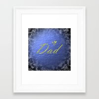 dad Framed Art Prints featuring dad by Marina Kuchenbecker