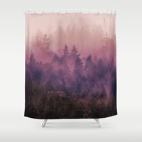 ombre Shower Curtains featuring The Heart Of My Heart by Tordis Kayma