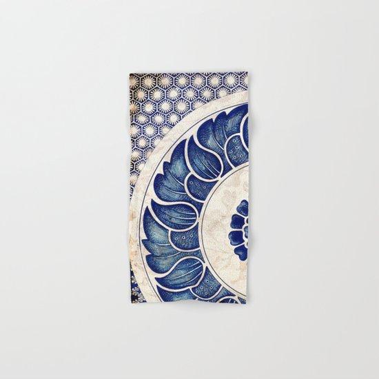 Blue Oriental Vintage Tile 05 Hand & Bath Towel