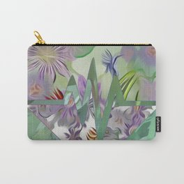 Passion Flower Heart & Fanciful Butterflies Carry-All Pouch