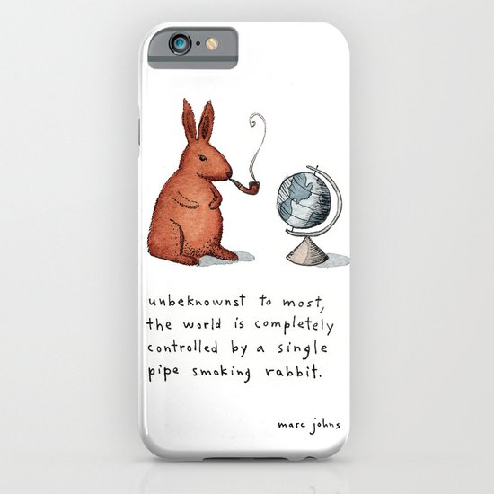 Pipe-smoking rabbit iPhone & iPod Case