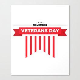 Veterans Day Commemorative Design Canvas Print