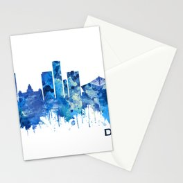 Durban South Africa Skyline Blue Stationery Cards
