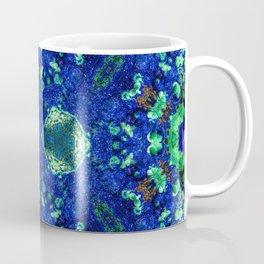 Malachite and Azurite with a geometric kaleidoscopic design Coffee Mug