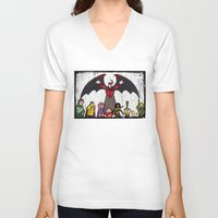 dungeons and dragons V-neck T-shirts featuring DUNGEONS & DRAGONS by Zorio