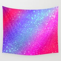 glitter Wall Tapestries featuring glitter by haroulita