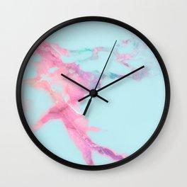 Blue Iridescent Vein Marble Wall Clock