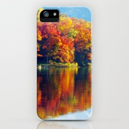 Autumn Colors at Lake Killarney iPhone Case