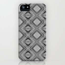 Shades of grey and black pattern A128A iPhone Case