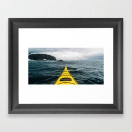 Stormy Antarctic Waters Framed Art Print