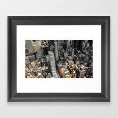 NYC - Bricks and Stones Framed Art Print