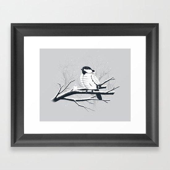 North For The Winter (Gray). Framed Art Print