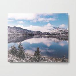Mount Shasta Reflection Metal Print