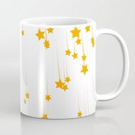 Meteor shower with yellow stars Coffee Mug