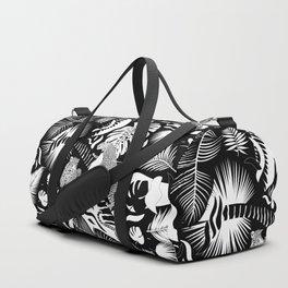 Surreal Wildlife / Black and White Duffle Bag