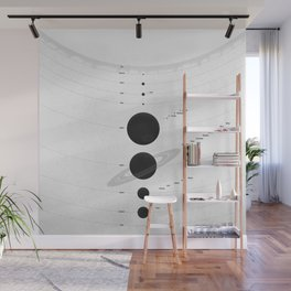 The Worlds (White) Wall Mural
