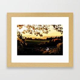 idyllic nature landscape vastd Framed Art Print