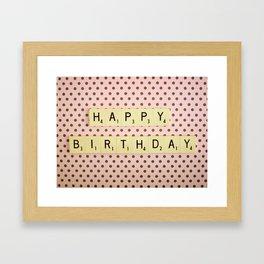 Happy Birthday Framed Art Print