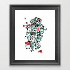 tomato shooting goat machine! Framed Art Print