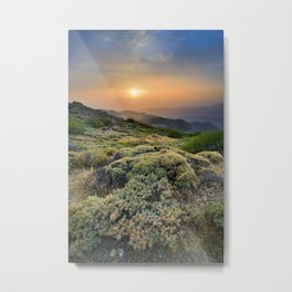 Summer Sunset At The Mountains Metal Print