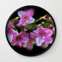 blossoms on black background -02- Wall Clock