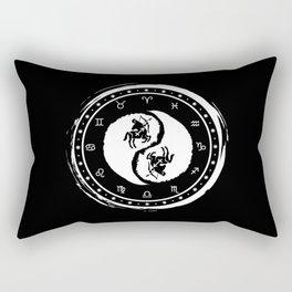 Sagittarius Yin Yang Ninth Zodiac Sign Rectangular Pillow