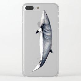 Minke whale Clear iPhone Case