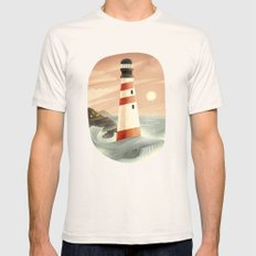 Whale LARGE Natural Mens Fitted Tee