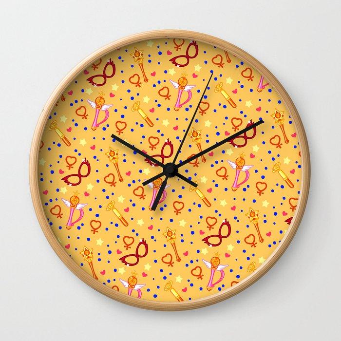 Sailor Venus Pattern / Sailor Moon Wall Clock