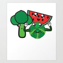 Adorable Veggies Art Print
