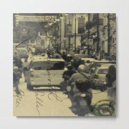 Sorrento street postcard Metal Print