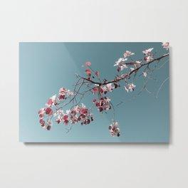 Branch On Blue Metal Print