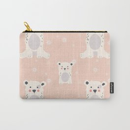Polar bear pattern 005 Carry-All Pouch
