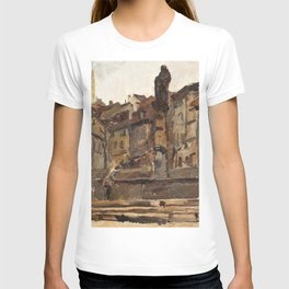 Isaac Lazarus Israels - Fontaine St Anne, Fribourg, Switzerland - Digital Remastered Edition T-shirt